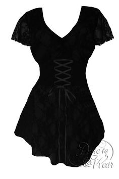 Dare To Wear Victorian Gothic Women's Plus Size Sweetheart Corset Top Black