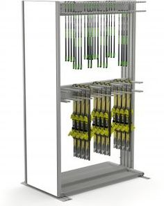 The Module Universal Hanging is a compact and versatile system for all kinds of sports equipment. Ski Rental, Ski Shop, Sports Equipment, Winter, Lockers, Skiing, Storage, Room, Winter Time