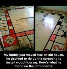 Monopoly Floor AWESOME IDEA