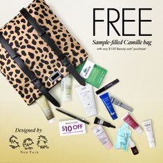 Get your own #CamilleBag designed by Sea NY free with any $100 Beauty.com purchase!