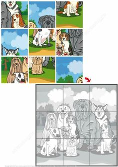 Jigsaw Puzzle with Purebred Dogs Puzzle game Free Printable Puzzles, Printable Preschool Worksheets, Free Printables, Dog Puzzles, Maths Puzzles, Jigsaw Puzzles, Hard Brain Teasers, Visual Schedule Autism, Fall Preschool Activities