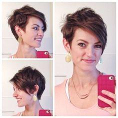 Asymmetrical Pixie Cut   Hair/makeup