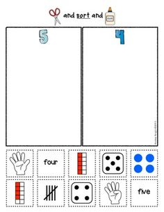 NUMBER SORTS {EARLY MATH SORTING SERIES, SET #1} - $  TeachersPayTeachers.com