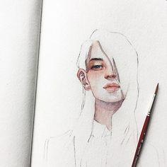watercolor art by @kelogsloops painting, drawing, art #sketch