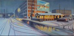 Water Street, Downtown in Winter is going to be seen in the Kalamazoo Institute of Art Area Show starting May 8.
