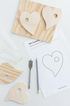 DIY Geschenkidee zum Muttertag: Vase aus Holz in Herzform %