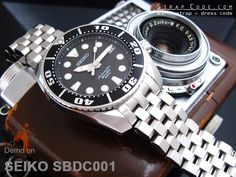 SEIKO 200m SUMO Scuba Diver SBDC001 on 20mm Super Engineer II watch band for SEIKO Sumo SBDC001, SBDC003 & SBDC005, Brushed [SS202003B031]