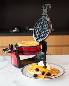 Double Waffle Maker, Red Belgian Waffle Maker, Belgian Waffles, Waffle Iron, Bakeware, Cookware, Make It Simple, Brunch, Cooking