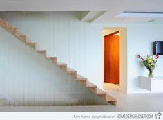 Escaliers bois clair graphiques, rambarde | Light Wood stairs | Home Design Lover