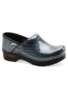 Dansko Professional print patent leather nursing clogs.- How cute are these?!