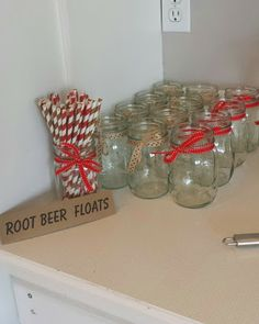 Good Morning Life...Blog: Sock Monkey Themed First Birthday Party. root beer floats