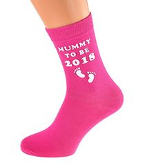 Mummy to Be 2018 with Foot Print Design printed on Dark Pink Ladies Socks Great Baby Present for Mum #Mummy #with #Foot #Print #Design #printed #Dark #Pink #Ladies #Socks #Great #Baby #Present