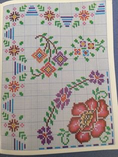 This Pin was discovered by Mar Cross Stitch Rose, Cross Stitch Borders, Cross Stitch Flowers, Cross Stitch Charts, Cross Stitch Designs, Cross Stitch Embroidery, Cross Stitch Patterns, Afghan Patterns, Fiber Art