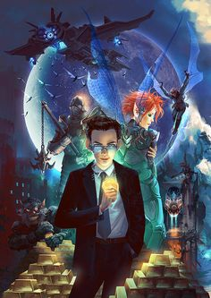 Artemis Fowl book 1 by Dan Shayu My boyfriend got me into the serries again, i forgot how awesome this serries is