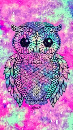 Tribal owl galaxy iphone/android wallpaper created for the a Cute Owls Wallpaper, Glitter Wallpaper, Wallpaper Iphone Cute, Galaxy Wallpaper, Screen Wallpaper, Colorful Wallpaper, Wallpapers Android, Mandala Wallpaper, Beautiful Owl