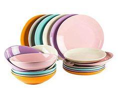 KALEIDOS  : servizio di piatti in gres multicolor II - 18 pezzi