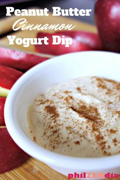 Check out my low calorie peanut butter cinnamon yogurt dip recipe. I made it with Greek yogurt. It's great as a fruit dip.