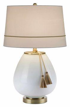 Main Image - JAlexander 'Opal' Tassel Glass Table Lamp