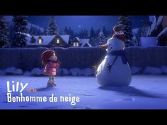 """Lily & the Snowman"" is a heartwarming animated short by Cineplex about the magic of storytelling. In the film young Lily builds a magic snowman who Christmas Music, Christmas Movies, Christmas Videos, Merry Christmas, French Songs, Films Cinema, Movie Talk, Film D'animation, Happy Kids"
