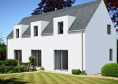 Hebridean Homes - modern structures based on historic building traditions. Farmhouse Architecture, Modern Farmhouse Exterior, Farmhouse Design, Architecture Design, Self Build House Kits, House Plans, House Designs Ireland, Bungalow Renovation, Rural House