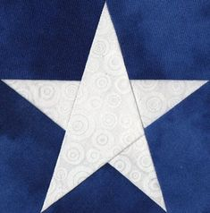 Perhaps the Perfect Five Point Star! From Quilter's Cache – Marcia Hohn's free pattern site.