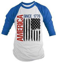 Eagle Flag Stars Distressed Women`s Slouchy T-shirt American 4th of July Tee