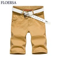 FLOERSA Shorts Men 2017 Summer Fashion Mens Shorts Casual Cotton Slim Bermuda Masculina Men's Short Pants Plus Size 6XL #22050