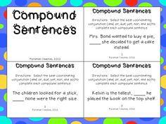 ... | Simple and compound sentences, Sentences and Complex sentences