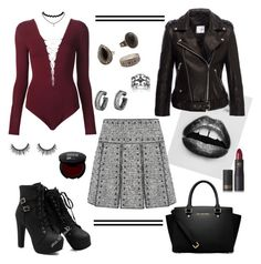 """""""Untitled #100"""" by shaejay ❤ liked on Polyvore featuring Anine Bing, MANGO, Valentino, T By Alexander Wang, MICHAEL Michael Kors, Palm Beach Jewelry, Lipstick Queen and Eleanor Stuart"""