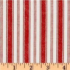 Michael Miller Indigo Red Rail Stripe Red  Item Number: EZ-927