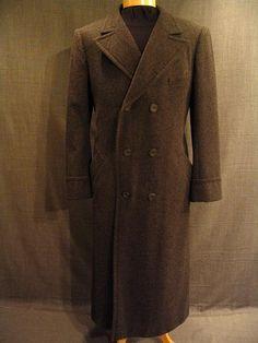 1920s Heather Wool Men's Overcoat