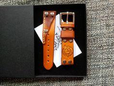 Leather Watch strap от KasetaLeather на Etsy