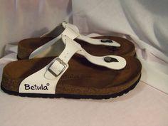 Birkenstock Betula White thong sandals size 10  #BirkenstockBetula #TStrap