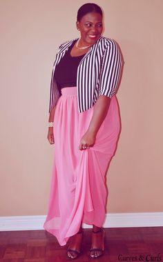 9ff3a87c8cf Coral maxi skirt + Crop Top. Plus Size Black DressesPlus ...