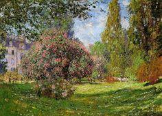 Landscape Parc Monceau Paris Claude Monet Monetalia