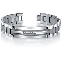 @Overstock.com - Eye-catching men's diamond ID bracelet is a handsome addition to your wardrobeJewelry features diamonds set in a stainless steel strip in center of ID plateBracelet is crafted of stainless steel and tungstenhttp://www.overstock.com/Jewelry-Watches/Mens-Tungsten-Stainless-Steel-1-5ct-TDW-Diamond-ID-Bracelet/4349705/product.html?CID=214117 $199.99
