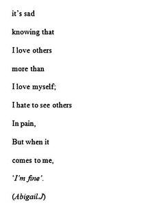 Pain poem