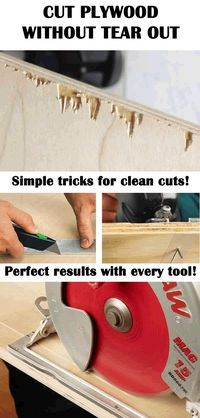Simple tricks for clean cut on plywood and veneered wood! No more nasty tear out! Cut plywood like a pro carpenter!