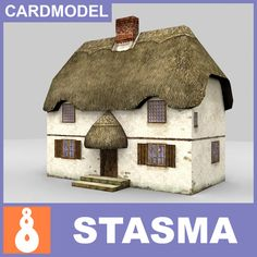 paper english thatched house free - English thatched house by Stasma Cardboard Box Houses, Cardboard Paper, Paper Houses, Paper Toys, Diy Paper, Paper Crafts, Diy Crafts, Thatched House, Thatched Roof