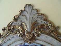 French blue gold gilted antique mirror