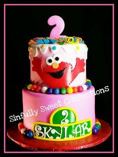 Elmo Sesame Street Birthday Cake