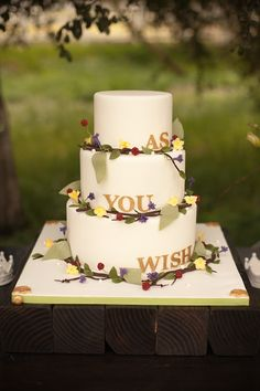 its a princess bride cake! I don't want it, but its adorable!