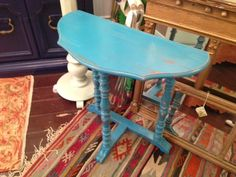 teal mini side table $90 - Chicago http://furnishly.com/catalog/product/view/id/4949/s/teal-mini-side-table/