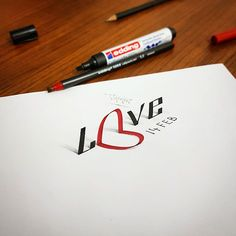 3D Calligraphy and Lettering with various calligraphy pens pencil. As allways, I tried to create 3D anamorphic illustration, typography and lettering with calligraphy tools and pencil. I hope you will enjoy.