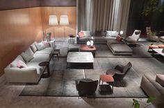 flexform - Google zoeken Furniture Showroom, Furniture Layout, Luxury Furniture, Modern Furniture, Architecture Design, Exhibition Room, Architectural Section, Living Room Modern, Living Rooms