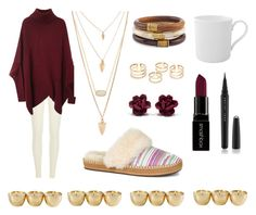"""""""Lonely"""" by sheikha-n-alzaabi on Polyvore featuring River Island, Villeroy & Boch, UGG Australia, Kendra Scott, Forever 21, Chico's, Smashbox, Marc Jacobs, women's clothing and women"""