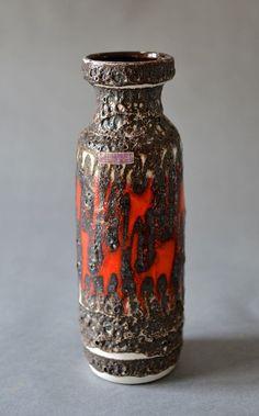 Vintage fat lava vase wgp West German pottery by MightyVintage / #mightyvintage #vintage #wgp #westgermanpottery #coffeemug #fatlavavase #vase #fatlava #Scheurich #midcentury #modern #mcm #vintagepottery #germanpottery #berlin #german #germany #etsy