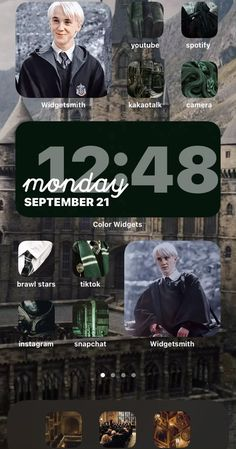 Harry Potter, Draco, Cedric, Luna  IOS 14 Home Screen Theme