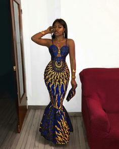 african clothing styles Azura African dress with matching headwrap TrueFond African Prom Dresses, Prom Girl Dresses, African Wedding Dress, Prom Outfits, Fashion Outfits, Sexy Dresses, Dress Prom, African Dress Styles, Modern African Dresses
