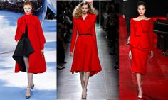seasonal trend red, how to wear red